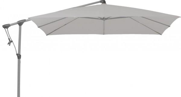 SUNWING® C+ Ampelschirm 260x260cm, eloxiert/420 smoke